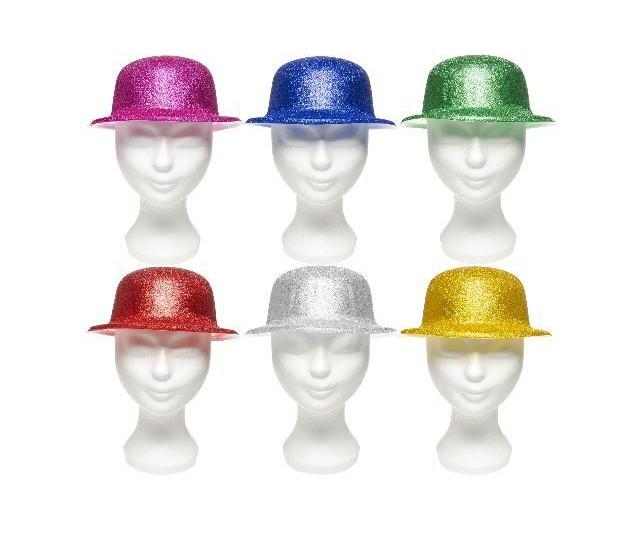 Hoed rond glitter 6 kleuren